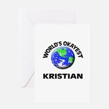 World's Okayest Kristian Greeting Cards