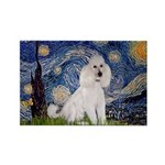 Starry Night / Std Poodle(w) Rectangle Magnet