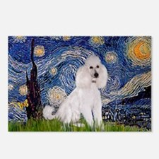Starry Night / Std Poodle(w) Postcards (Package of