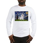 Starry Night / Std Poodle(w) Long Sleeve T-Shirt