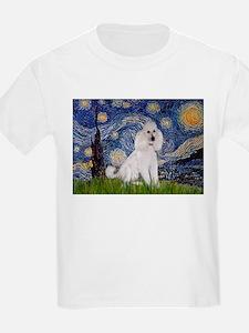 Starry Night / Std Poodle(w) T-Shirt