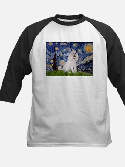 Starry Night / Std Poodle(w) Kids Baseball Jersey