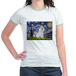 Starry Night / Std Poodle(w) Jr. Ringer T-Shirt