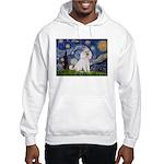 Starry Night / Std Poodle(w) Hooded Sweatshirt