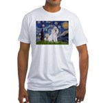 Starry Night / Std Poodle(w) Fitted T-Shirt