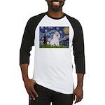 Starry Night / Std Poodle(w) Baseball Jersey
