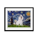 Starry Night / Std Poodle(w) Framed Panel Print