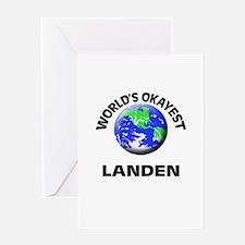 World's Okayest Landen Greeting Cards