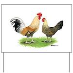 Norwegian Jaerhons Chickens Yard Sign