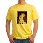 Queen / Std Poodle(w) Yellow T-Shirt