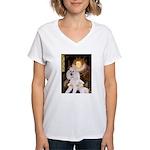 Queen / Std Poodle(w) Women's V-Neck T-Shirt
