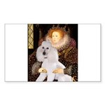 Queen / Std Poodle(w) Sticker (Rectangle)