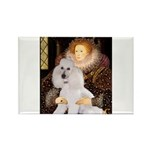 Queen / Std Poodle(w) Rectangle Magnet (10 pack)