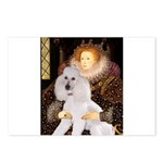 Queen / Std Poodle(w) Postcards (Package of 8)