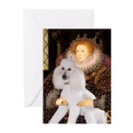 Queen / Std Poodle(w) Greeting Cards (Pk of 20)