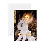 Queen / Std Poodle(w) Greeting Card
