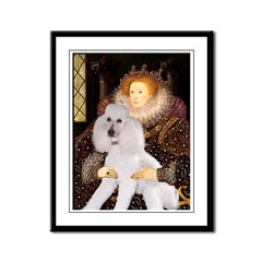 Queen / Std Poodle(w) Framed Panel Print