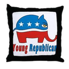 Young Republican Throw Pillow
