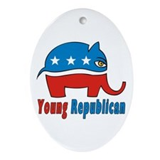 Young Republican Oval Ornament