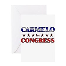 CARMELO for congress Greeting Card