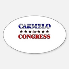 CARMELO for congress Oval Decal