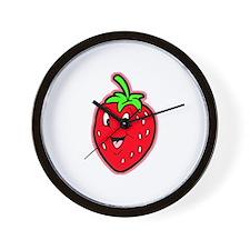 Happy Strawberry Wall Clock