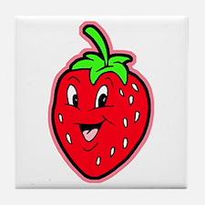 Happy Strawberry Tile Coaster