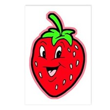 Happy Strawberry Postcards (Package of 8)