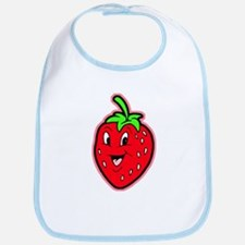 Happy Strawberry Bib