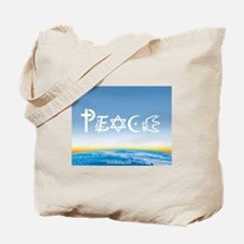 Peace On Earth at Sunrise Tote Bag