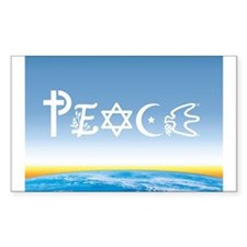 Peace On Earth at Sunrise Rectangle Decal