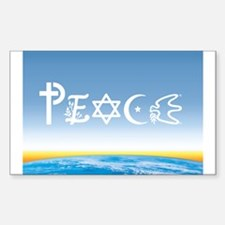 Peace On Earth at Sunrise Rectangle Decal