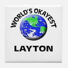 World's Okayest Layton Tile Coaster