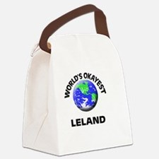 World's Okayest Leland Canvas Lunch Bag