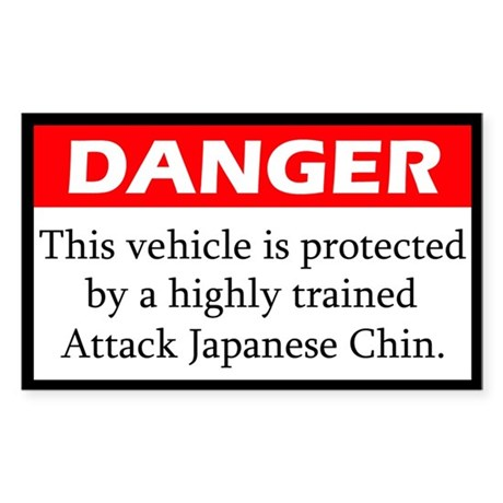Attack Japanese Chin Sticker