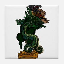 Mayan Serpent God Tile Coaster