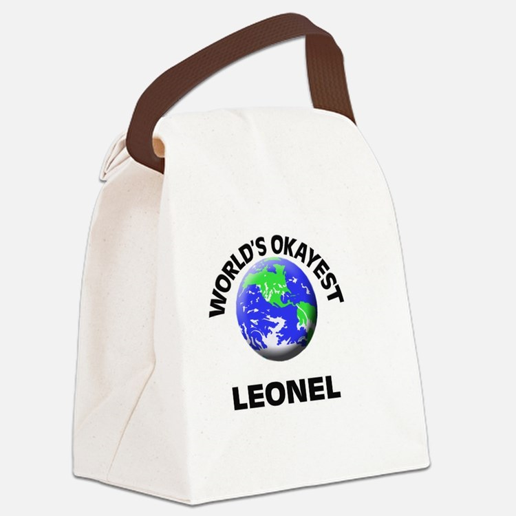 World's Okayest Leonel Canvas Lunch Bag