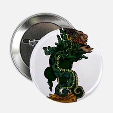 """Mayan Serpent God 2.25"""" Button"""