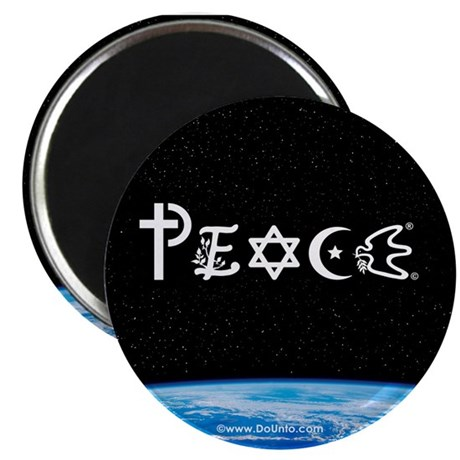 Peace on Earth at Night Magnet