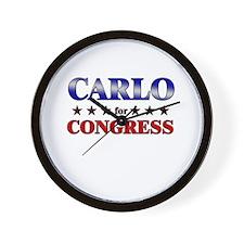 CARLO for congress Wall Clock