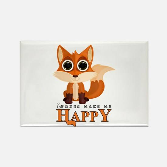 Foxes Make Me Happy Magnets
