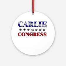 CARLIE for congress Ornament (Round)