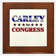 CARLEY for congress Framed Tile