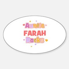 Farah Oval Decal