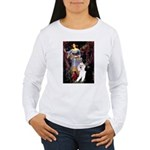 Ophelia /2 Poodles(b&w) Women's Long Sleeve T-Shir