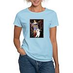 Ophelia /2 Poodles(b&w) Women's Light T-Shirt