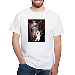 Ophelia /2 Poodles(b&w) White T-Shirt