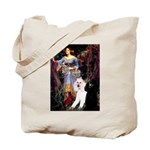 Ophelia /2 Poodles(b&w) Tote Bag