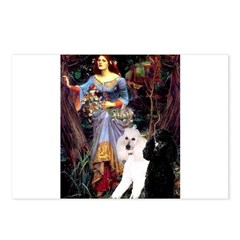 Ophelia /2 Poodles(b&w) Postcards (Package of 8)