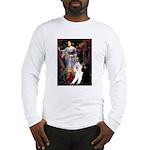 Ophelia /2 Poodles(b&w) Long Sleeve T-Shirt